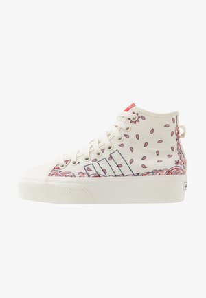 NIZZA PLATFORM MID - Baskets montantes - offwhite/collegiate navy/glory red