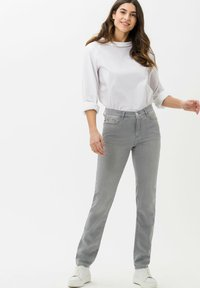 BRAX - STYLE MARY - Slim fit jeans - used summer grey - 1