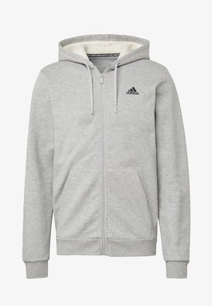 WINTER 3-STRIPES FULL-ZIP HOODIE - Sudadera con cremallera - grey