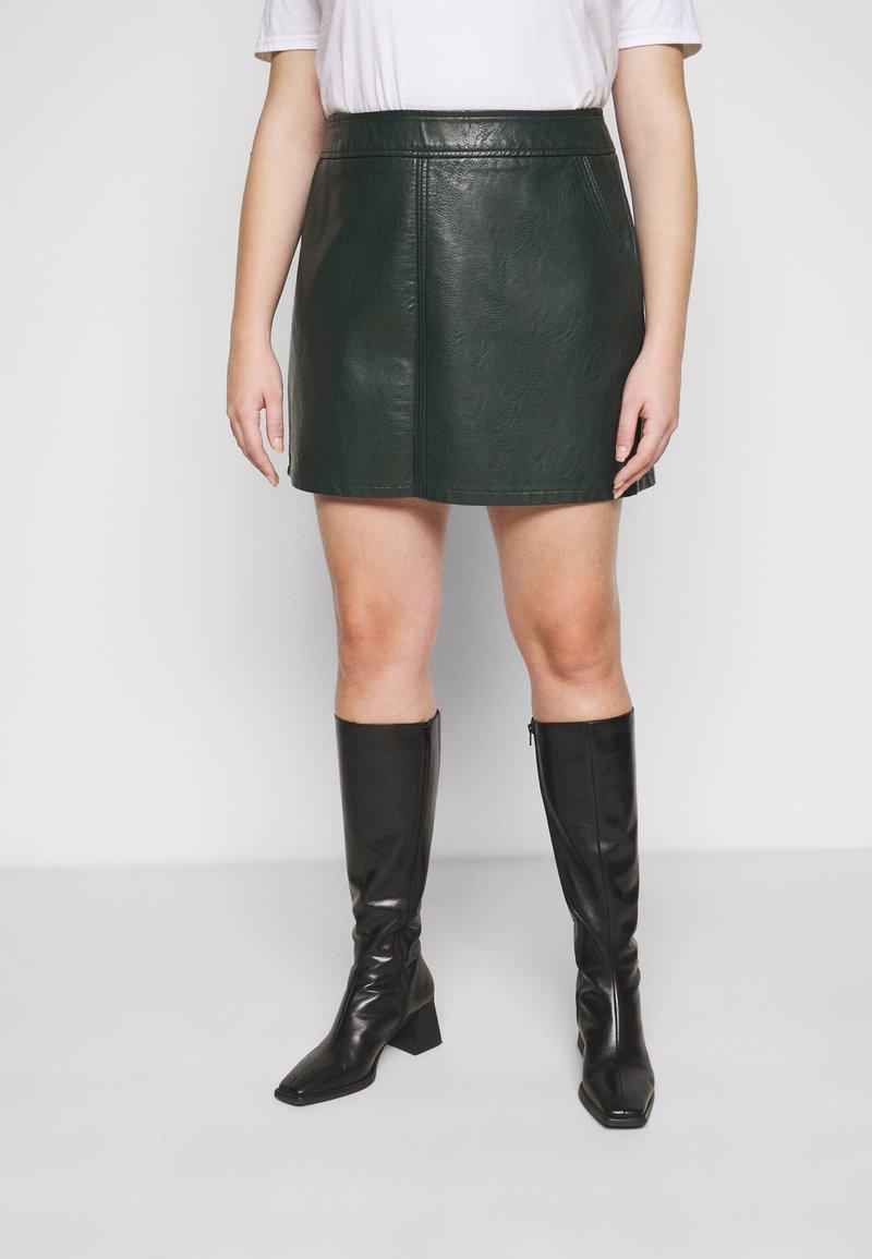 Dorothy Perkins Curve - SKIRT - Mini skirt - green