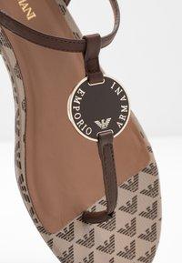 Emporio Armani - T-bar sandals - testa di moro/ecru - 5
