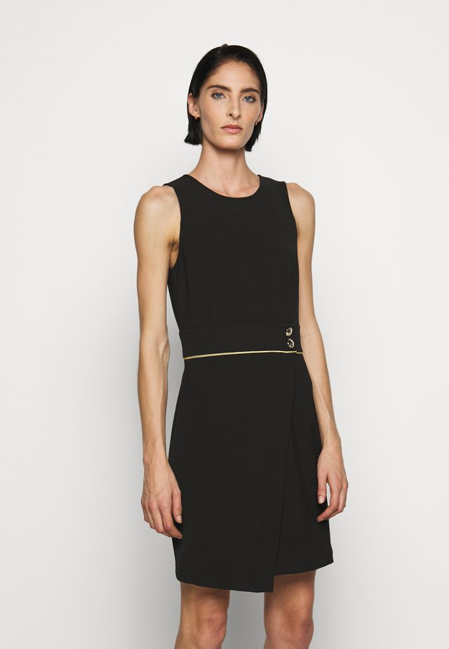 GOLD BUTTON DRESS - Korte jurk - nero