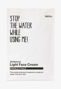 STOP THE WATER WHILE USING ME! - ALL NATURAL PARSLEY KALE LIGHT FACE CREAM REFILL SACHET - Face cream - black/white - 0