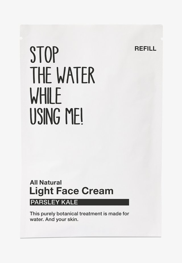 ALL NATURAL PARSLEY KALE LIGHT FACE CREAM REFILL SACHET - Soin de jour - black/white