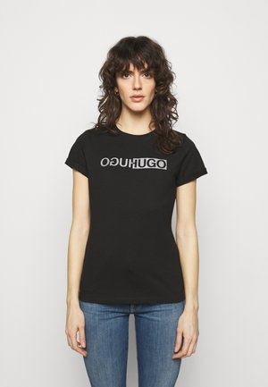 THE SLIM TEE - Print T-shirt - black