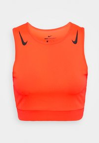 Nike Performance - AEROSWIFT CROP - Funktionsshirt - bright crimson/black - 4