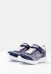 Skechers - GLIMMER KICKS - Trainers - navy/multicolor/rock glitter/lavender/light pink - 2