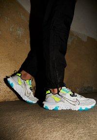 Nike Sportswear - REACT VISION - Sneakers - white/black/volt/blue fury - 2