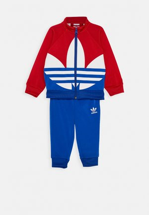 BIG TREFOIL SET - Training jacket - scarlet/royal blue/white