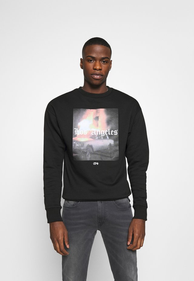 FLAME CREW - Bluza - black