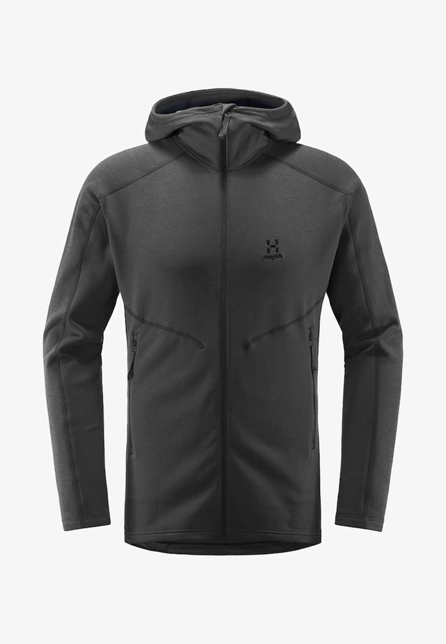HERON HOOD MEN - Fleece jacket - slate solid