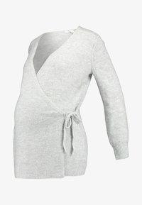 GAP Maternity - SIDE TIE WRAP - Neuletakki - heather grey - 3