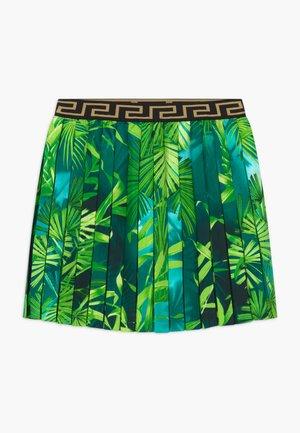 JUNGLE CAPSULE - Áčková sukně - verde