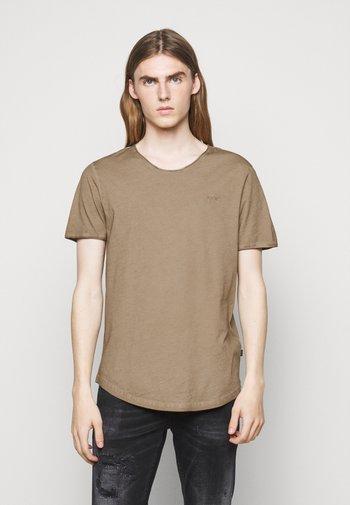 CLARK - Basic T-shirt - medium beige