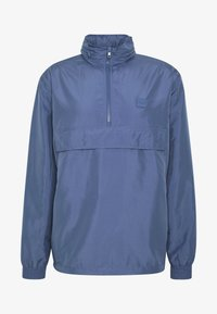 Urban Classics - BAND COLLAR PULL OVER - Kevyt takki - vintage blue - 5