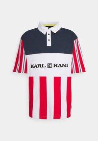 Karl Kani - RETRO BLOCK STRIPE TEE - Print T-shirt - white - 0