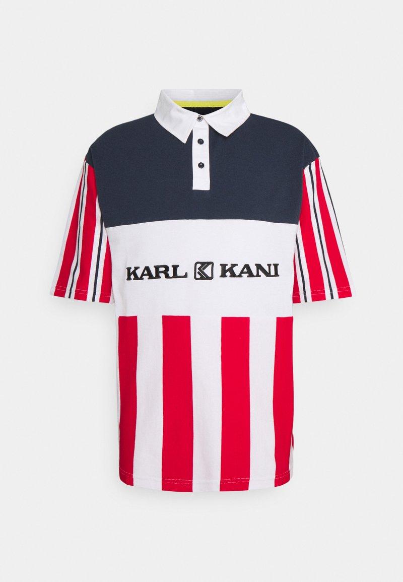Karl Kani - RETRO BLOCK STRIPE TEE - Print T-shirt - white