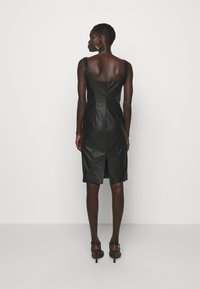 Pinko - PUDICO ABITO SIMILPELLE - Cocktail dress / Party dress - black - 2