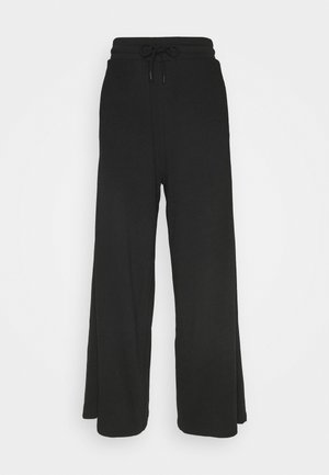 WIDE LEG SPLIT SEAM PANTS - Joggebukse - black