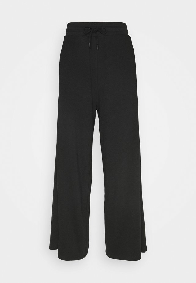 WIDE LEG SPLIT SEAM PANTS - Pantalon de survêtement - black