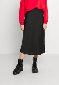 Forever New - BIANCA SLIP MIDI SKIRT - A-line skirt - black - 0