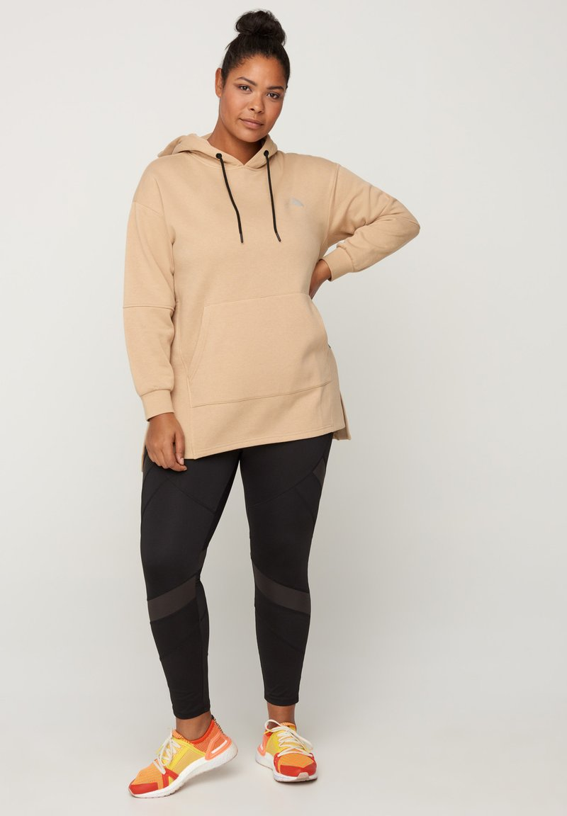 Active by Zizzi - Hoodie - sand