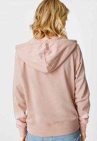 C&A - Zip-up sweatshirt - light pink - 1
