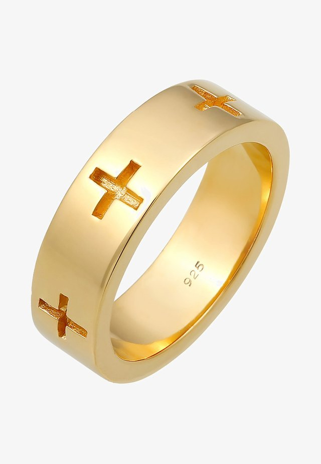 KREUZ CUT OUT  - Bague - gold-coloured