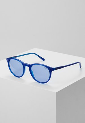 Sunglasses - transparent electric blue