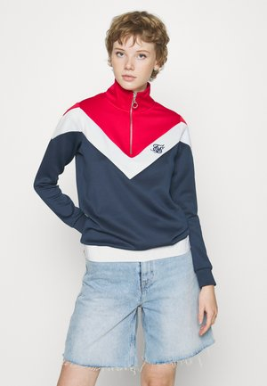 RETRO SPORT TRACK TOP - Sudadera - navy/red/white