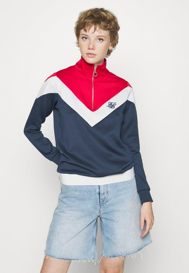 RETRO SPORT TRACK TOP - Collegepaita - navy/red/white