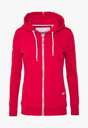 ATHLETIC ZIPHOOD - Zip-up hoodie - trady red