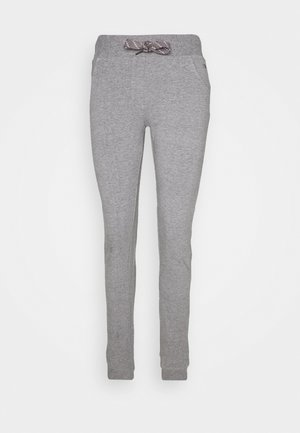 WOMAN LONG PANT - Tracksuit bottoms - fumo melange