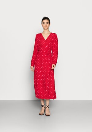 WRAP DRESS - Korte jurk - red