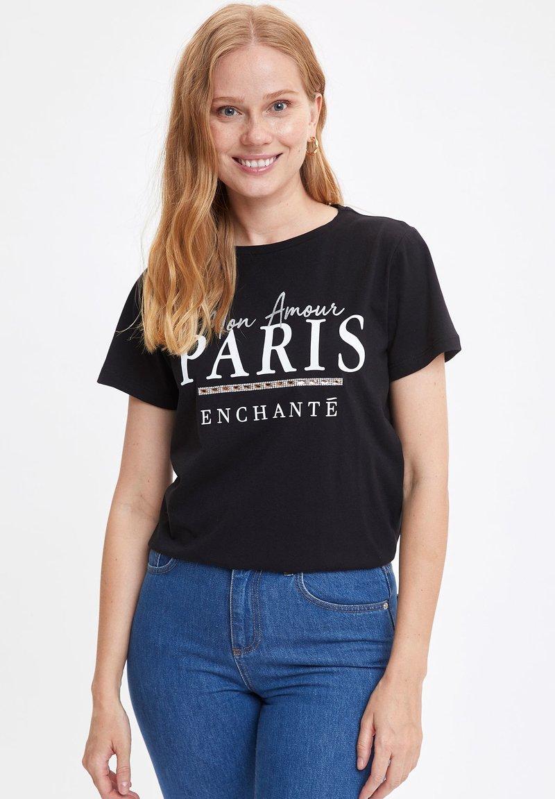 DeFacto - T-shirt print - black