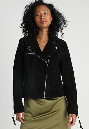 VICRIS - Kožená bunda - black