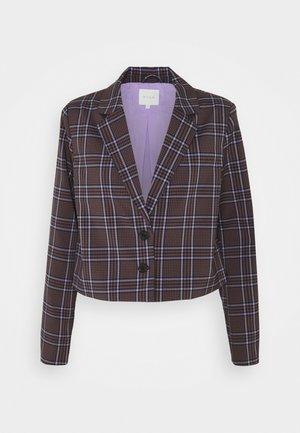VIBALO CHECK SHORT - Blazer - rose/taupe/black