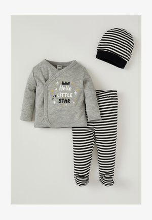 TRACKSUIT AND BEANIE SET - Trainingspak - grey