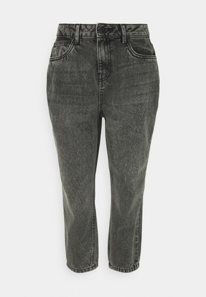 NMISABEL MOM - Straight leg jeans - grey denim
