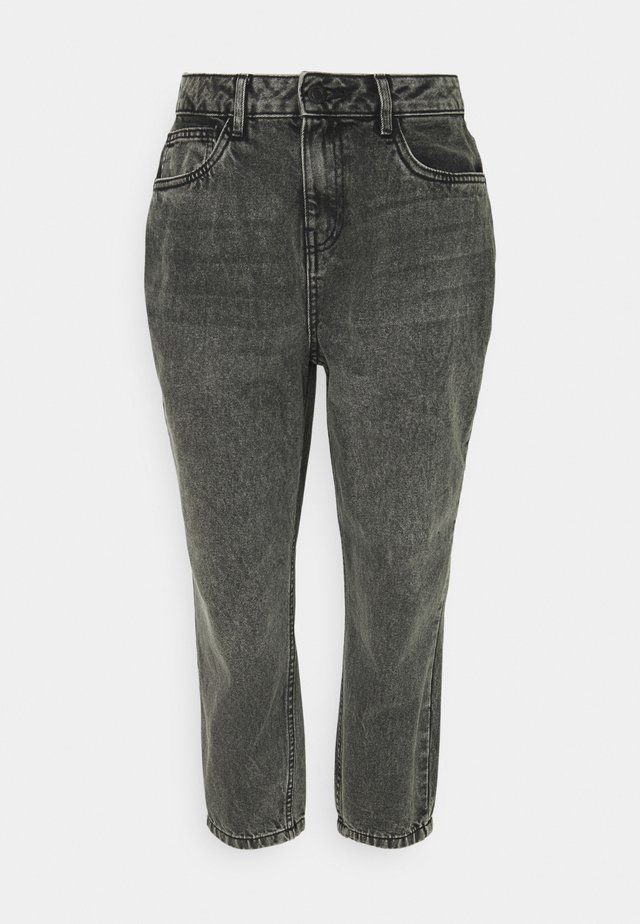 NMISABEL MOM - Jeans straight leg - grey denim