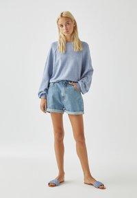 PULL&BEAR - Long sleeved top - mottled blue - 1