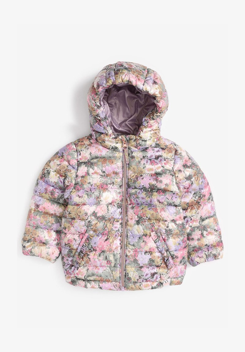 Next - SHOWER RESISTANT FLORAL PADDED  - Winter jacket - lilac