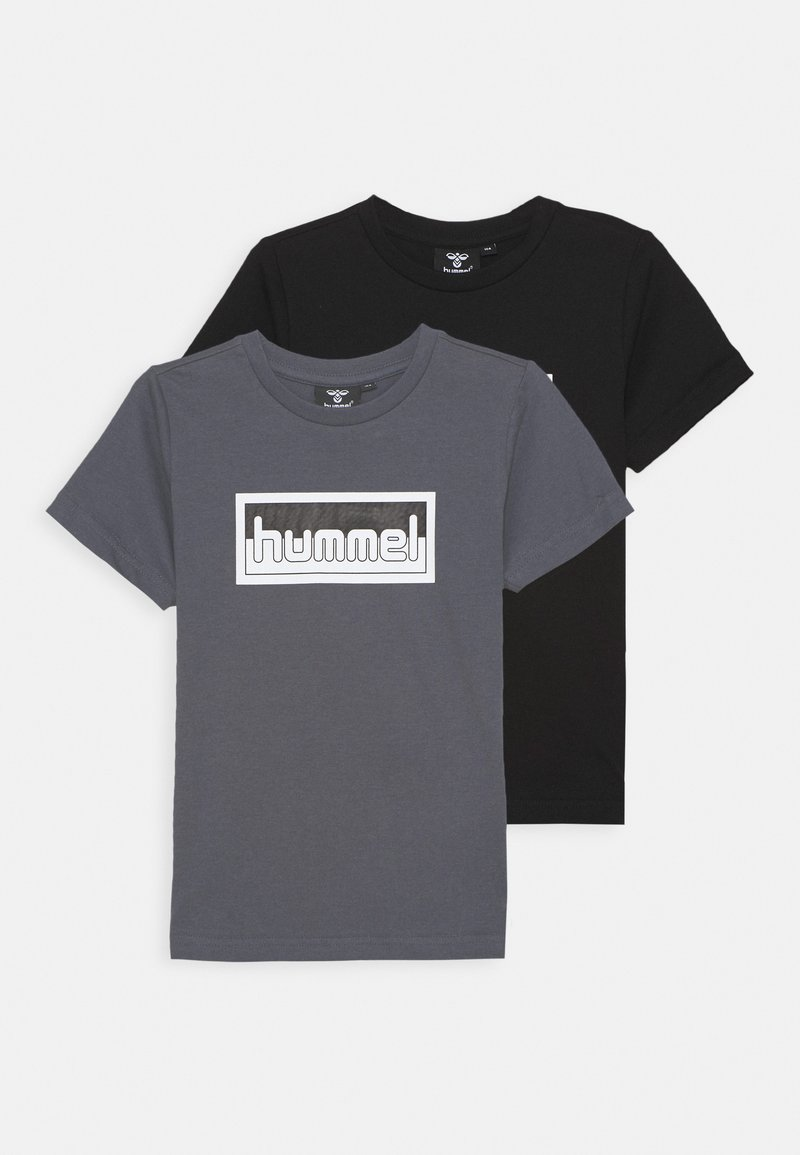 Hummel - MONO 2 PACK - Print T-shirt - ombre blue/black