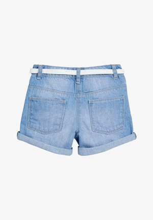 DENIM MID BLUE SHORTS WITH GLITTER PURSE BELT (3-16YRS) - Jeansshort - blue