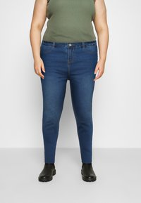Missguided Plus - LAWLESS HIGHWAISTED SUPERSOFT - Jeans Skinny Fit - vintage blue - 0