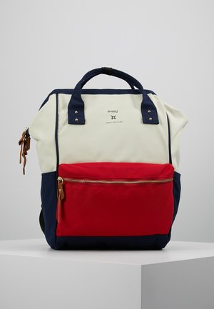 Rucksack - off-white/red