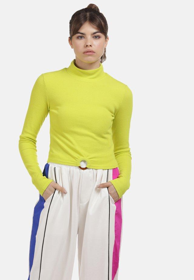 Long sleeved top - neon gelb