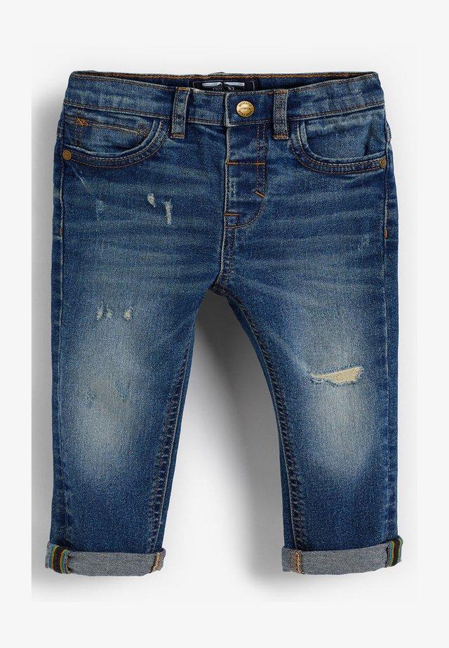 DISTRESSED  - Jean slim - blue denim