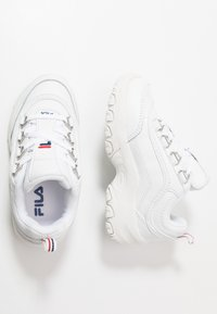 Fila - STRADA LOW KIDS - Matalavartiset tennarit - white - 0