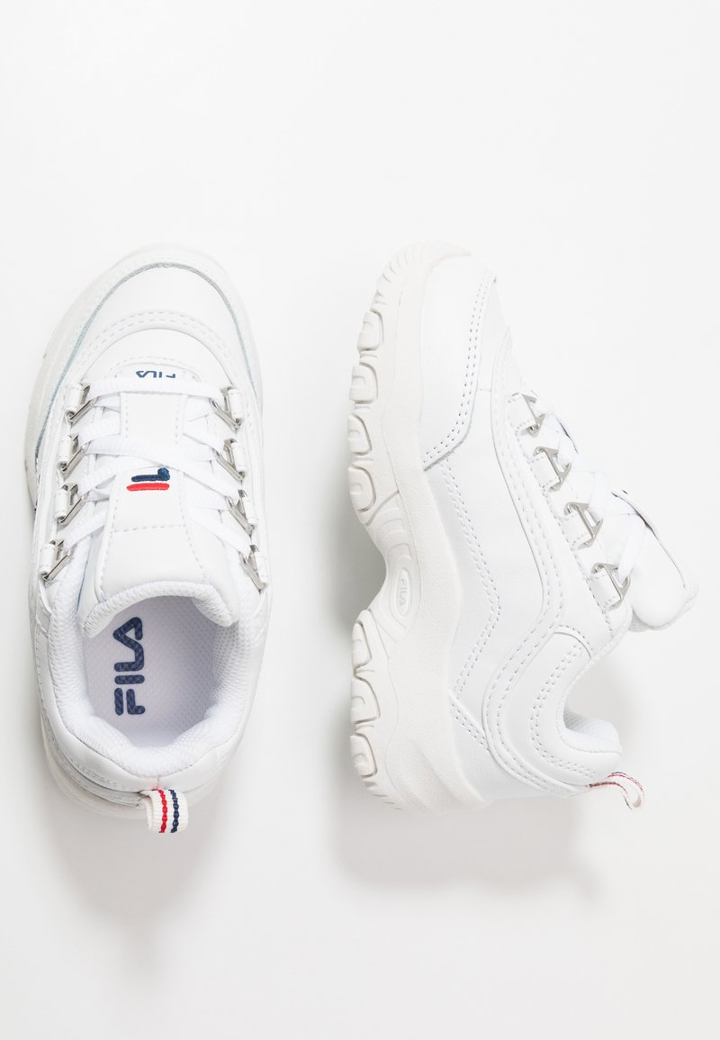 Fila - STRADA LOW KIDS - Matalavartiset tennarit - white